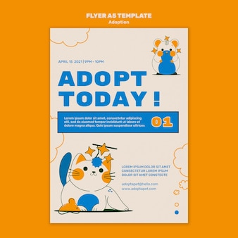 그림 된 애완 동물 인쇄 템플릿