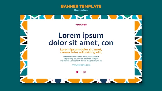 Modello di banner evento ramadan illustrato