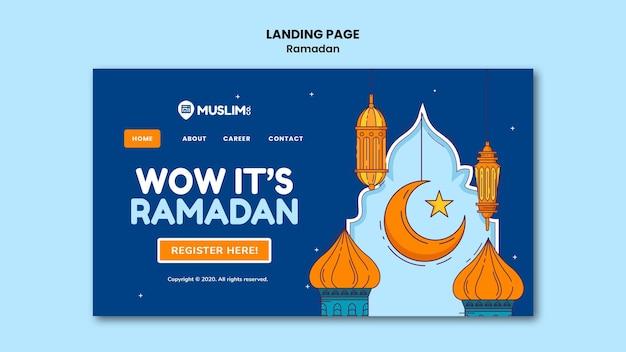 Illustrated ramadan kareem web template