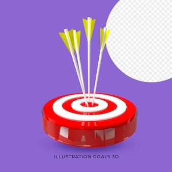 Иллюстрация цель цель 3d