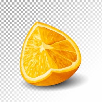 Иллюстрация половина оранжевого прозрачного