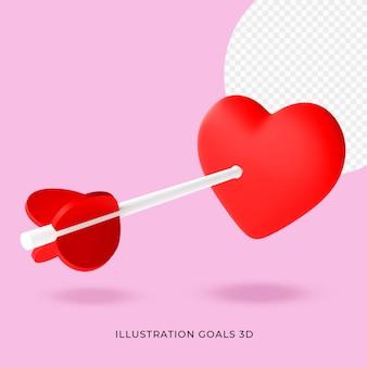 Иллюстрация любовь 3d