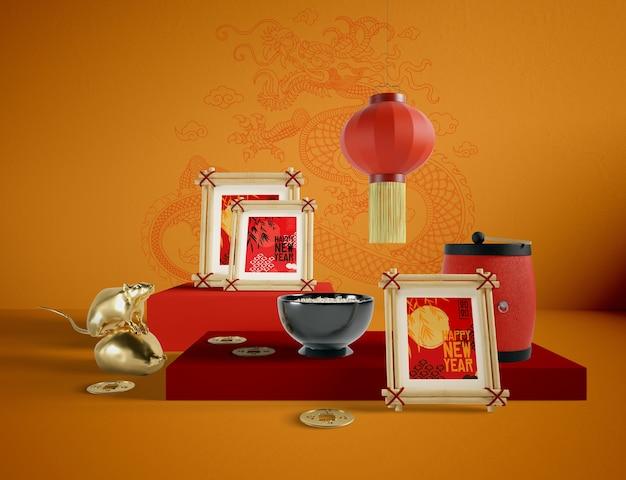 Иллюстрация китайских новогодних объектов
