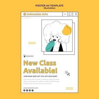 Illustration workshop poster template