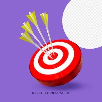 Цель иллюстрирования цель 3d