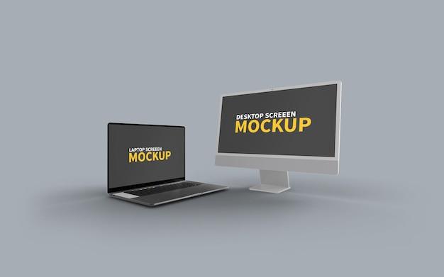 Imac and macbook mockup