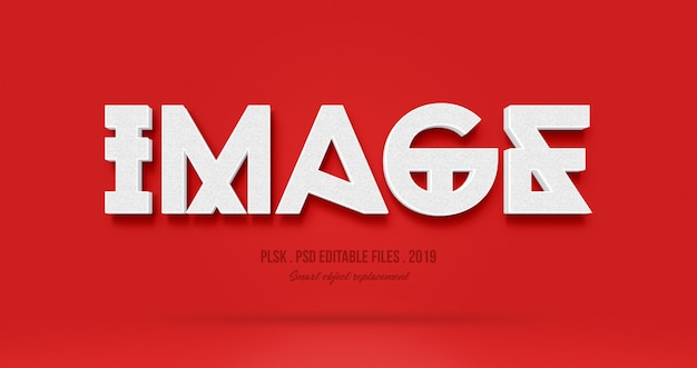 Image 3d эффект стиля текста
