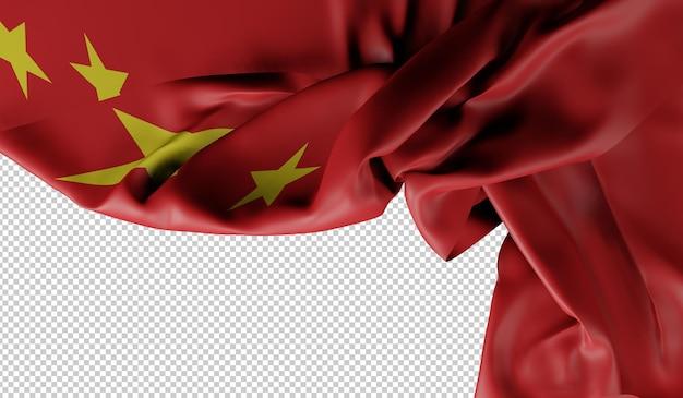 Изображение флага китая. 3d рендеринг