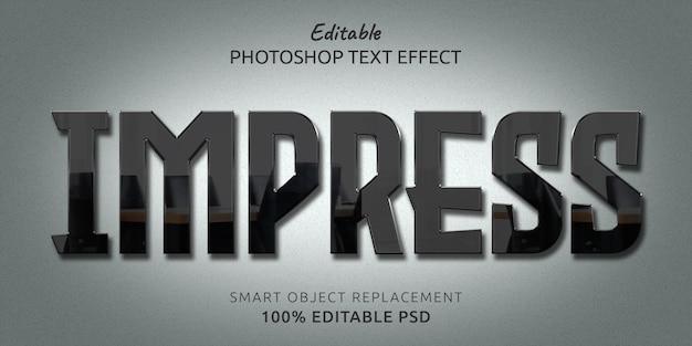 Impress editable psd text style effect