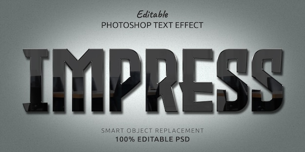 Impress редактируемый psd text style effect