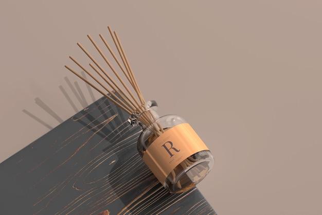 향 공기 청정기 리드 디퓨저 유리 병 모형