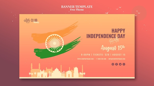 Independence day banner template design