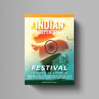 Indian independence day flyer