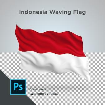 Indonesia flag wave transparent psd