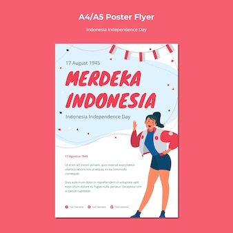 Indonesia independence day flyer