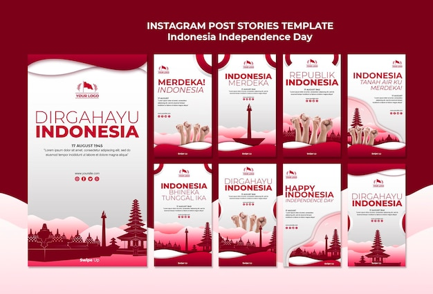 Indonesia independence day instagram stories