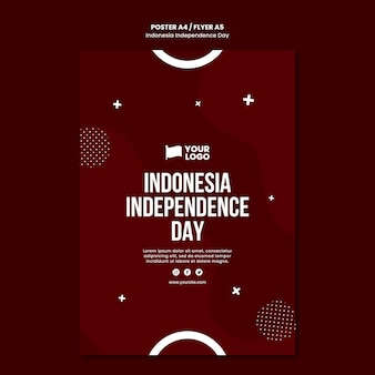 Indonesia independence day poster concept template