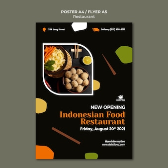 Indonesian food flyer template