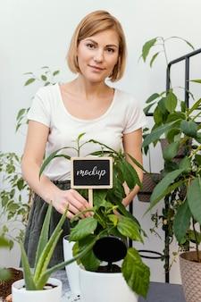 Indoor vegetation planting mock-up
