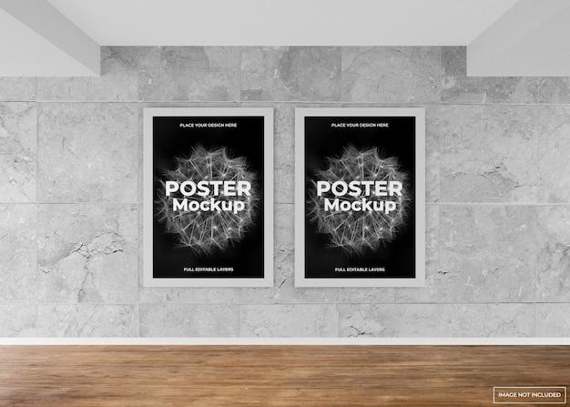 Indoor wall frame poster mockup design