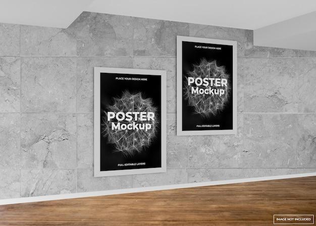 실내 벽 프레임 포스터 모형 디자인