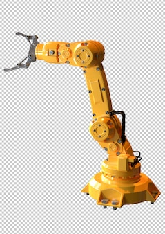 Industrial robotic arm isolated . equipment used in the automotive industry