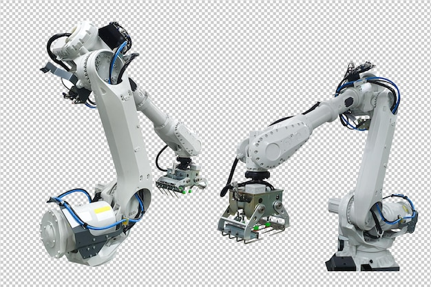 Industrial robotic arm technology psd