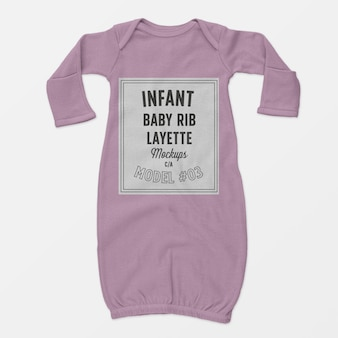Infant baby rib layette mockup 03