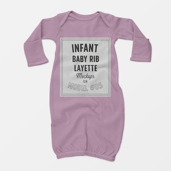Infant baby rib layette mockup 05