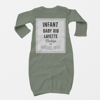 Infant baby rib layette mockup 07