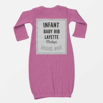 Infant baby rib layette mockup