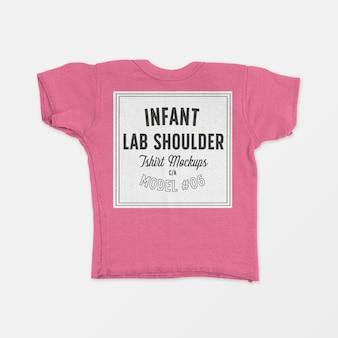 Infant lap shoulder t-shirt mockup