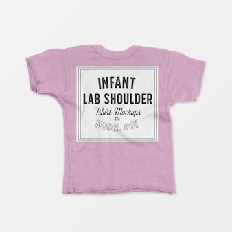 幼児ラップショルダーtシャツモックアップ