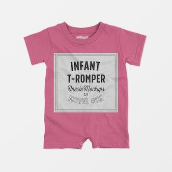 Infant t-romper onesie mockup 02