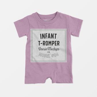 Infant t-romper onesie mockup