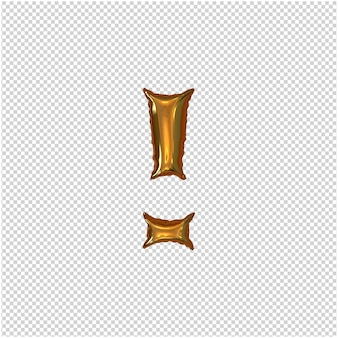 インフレータブルゴールデンシンボル3dレンダリング