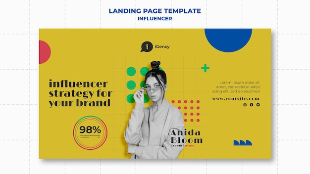 Influencer colorful banner template