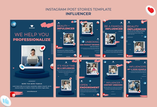 Storie di instagram influencer