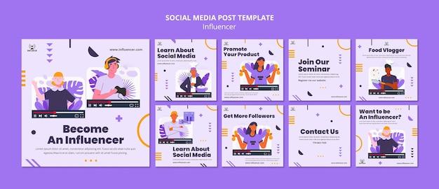 Influencer social media post template