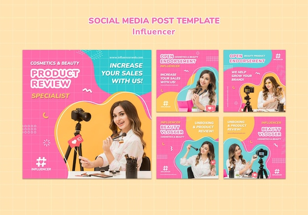 영향력있는 소셜 미디어 게시물 템플릿