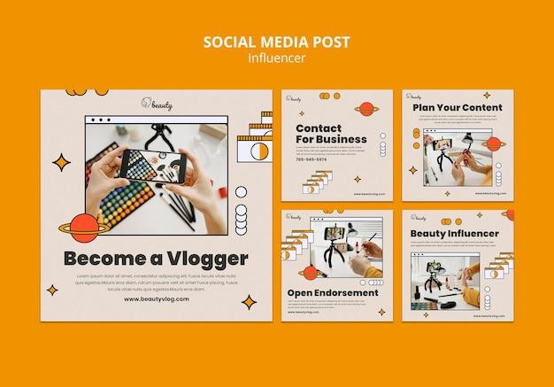 영향력있는 소셜 미디어 게시물