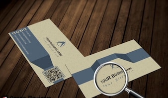 Infographic business card template