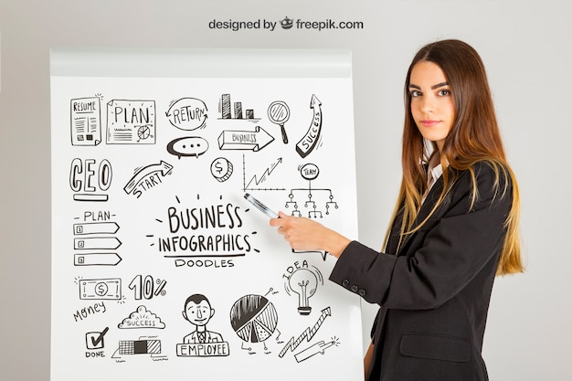 Infografica conept business