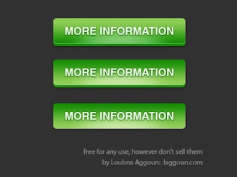 Information green buttons PSD material