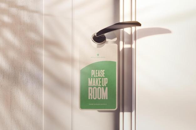Information knob hanger mockup