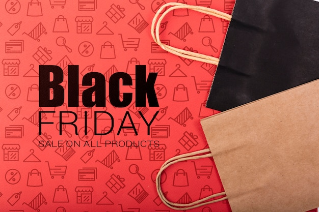 Informational announce for black friday day