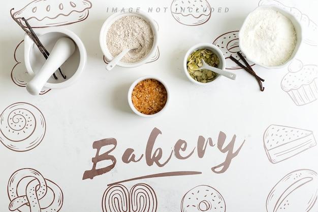 Ingredients for baking mockup