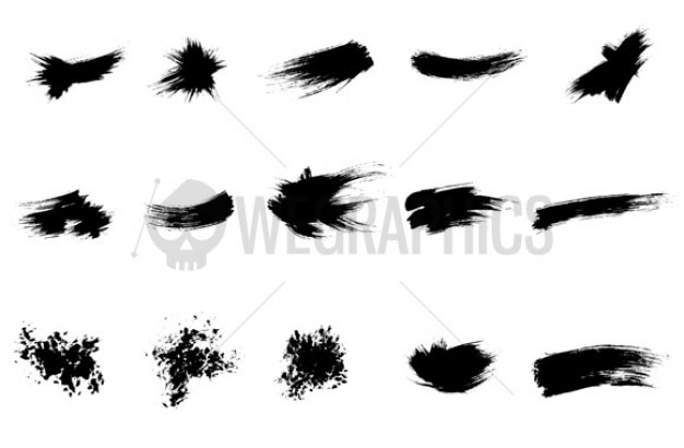 Ink strokes.