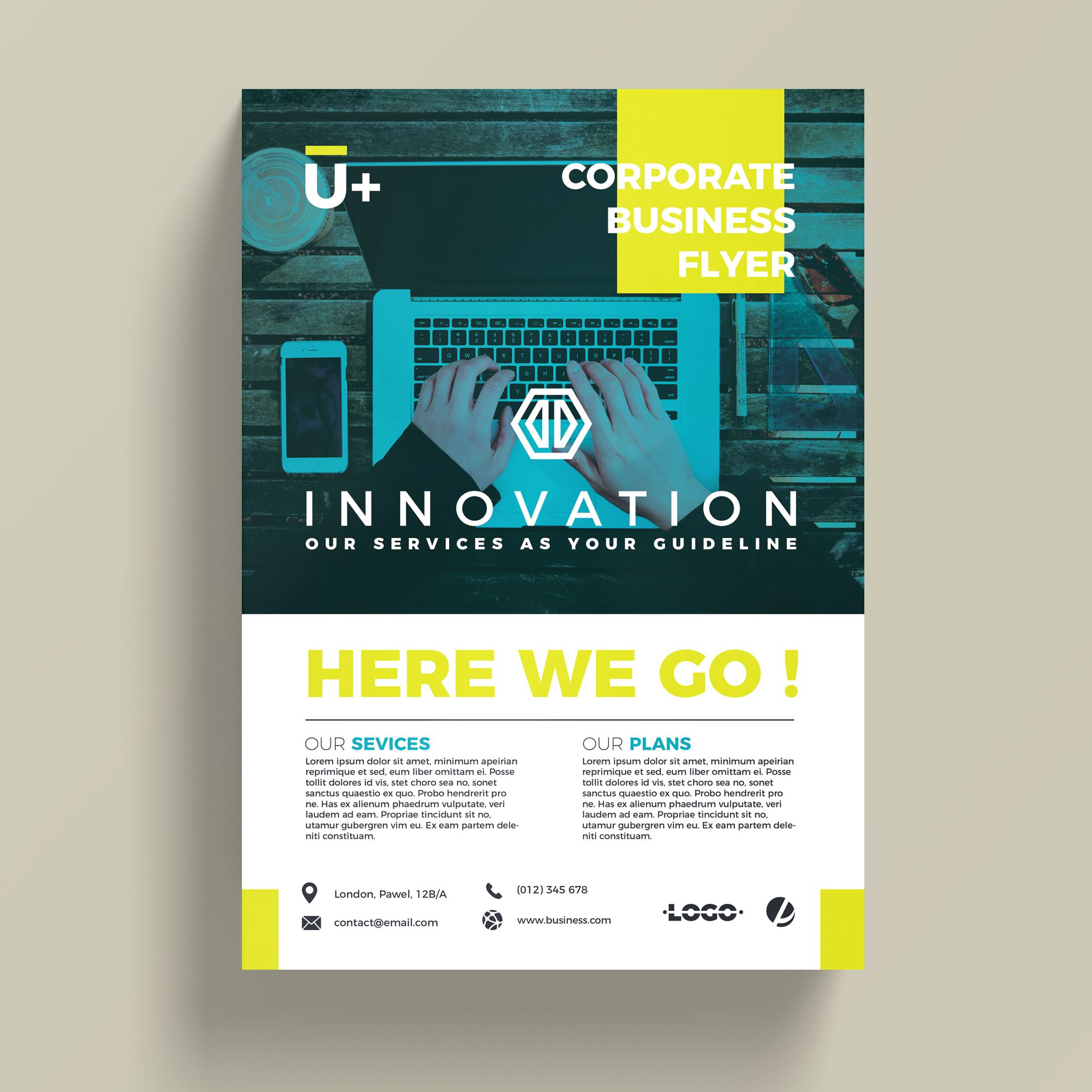 Innovative corporate business flyer template