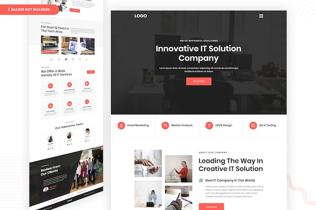 Innovative it solution company website page